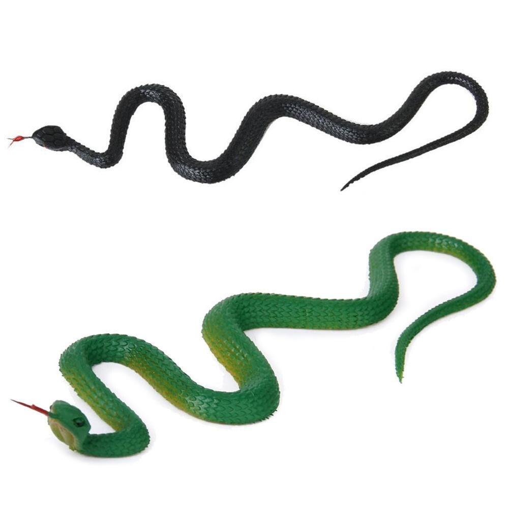 Divertido truco aterrador Emulational realista serpiente Animal falso Día de los Inocentes juguete ideal para el Día de los Inocentes regalos de Halloween