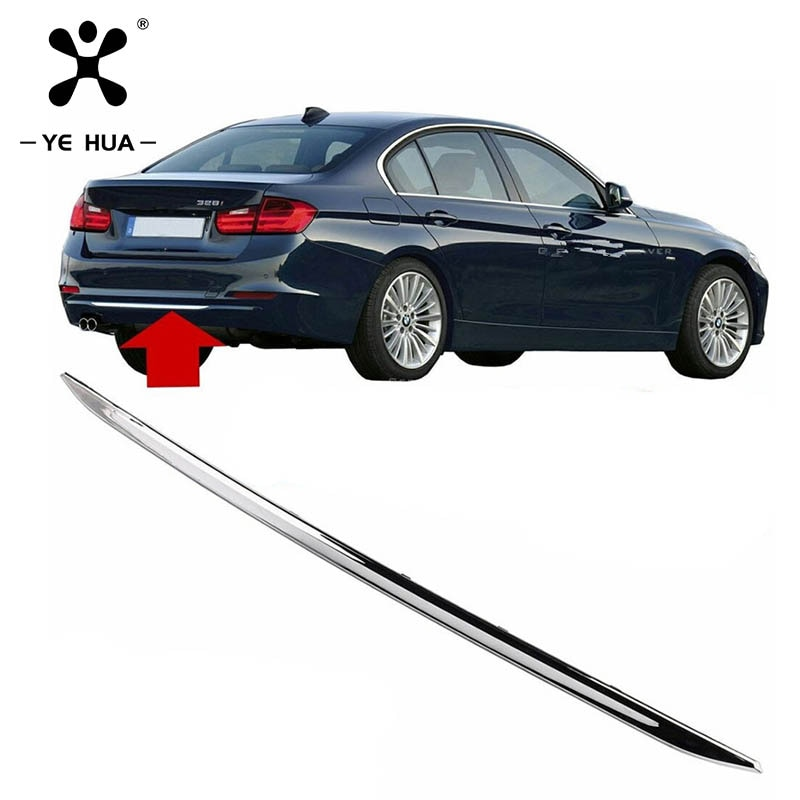 For BMW F30 Tailgate Trim 3 Series 12-19 Specialized Stainless Steel Rear Bumper Protection Car Stickers Auto Accessories