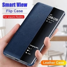 Smart View Window Flip Cover For Huawei Psmart 2021 Case Leather Phone Holder For Huawei P Smart 2019 2020 2021 Z Magnetic Shell