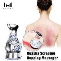 ems cupping massager vacuum gua sha scraper suction cups ventosas anti cellulite body detox fat burner beauty slimming device