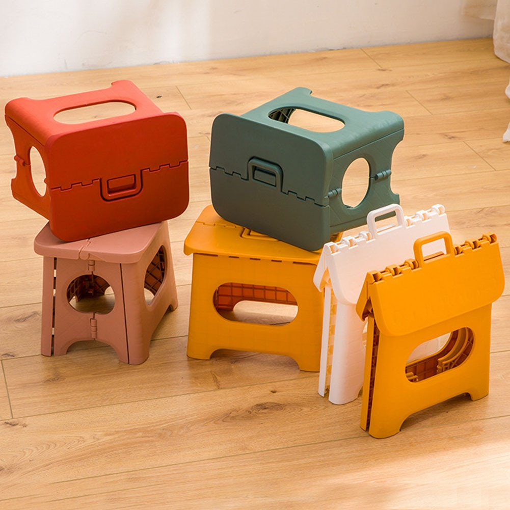 Portable Folding Step Stool Durable for s Children Home Travel Non Slip Safe Comfortable PP Heavy Duty Multifunction Chair