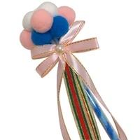 cat toy cat teaser wand plush tassel cat catcher teaser stick interactive bowknot ball wand cat toy with bell pet supplies
