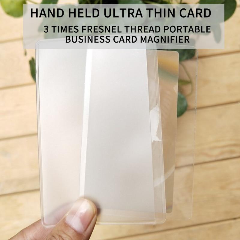 3 lupa aumentador lentes de aumento de Fresnel 1/10 Uds., tamaño de la tarjeta de crédito de bolsillo 85X55mm, lupa transparente, nuevo