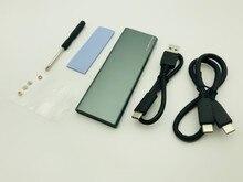 H1111Z PCIE M.2 NVME boîtier SSD M clé Type C USB3.1 2240/2280 boîtier SSD plein aluminium 10Gbps boîte externe pour disque solide