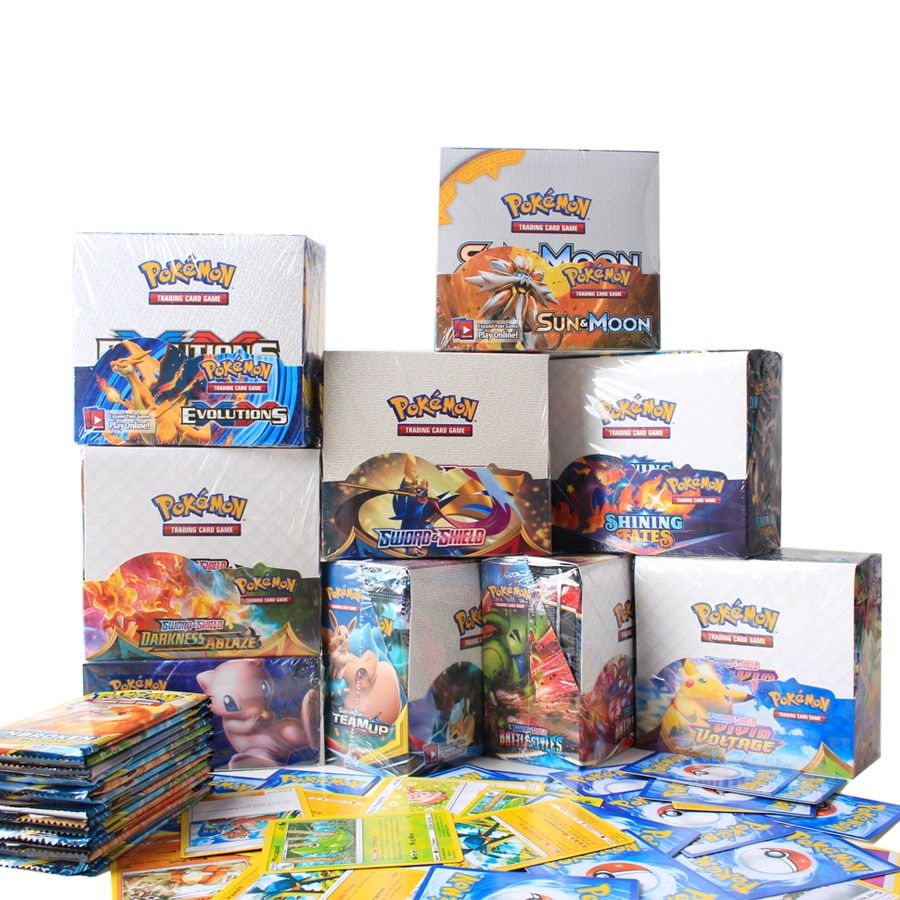 324Pcs/Box Pokemon Cards Sun & Moon Lost Thunder English Trading Card Game Evolutions Booster Box Co