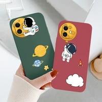 side print astronaut phone case for iphone 12 pro max mini 11 pro max x xs xr xsmax se2020 8 8plus 7 7plus 6 6s plus cover