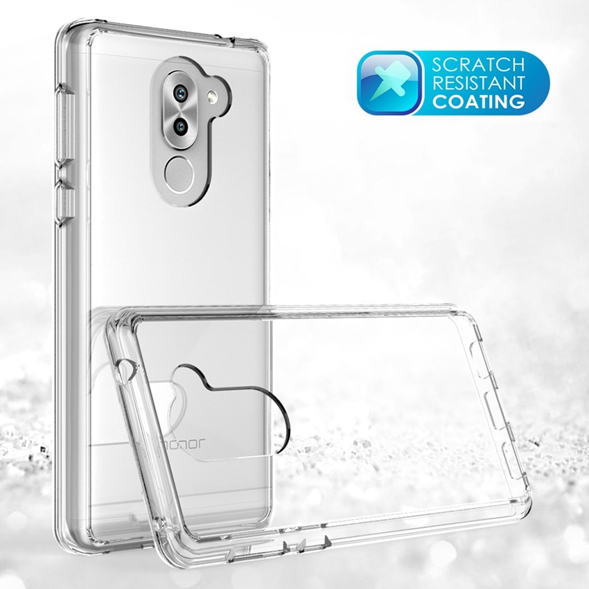 Soft Silicon TPU/PC Case For Huawei Honor 6X Fundas Capa Shockproof Fending Shell Clear Hard Back Cover For Huawei Honor 6X