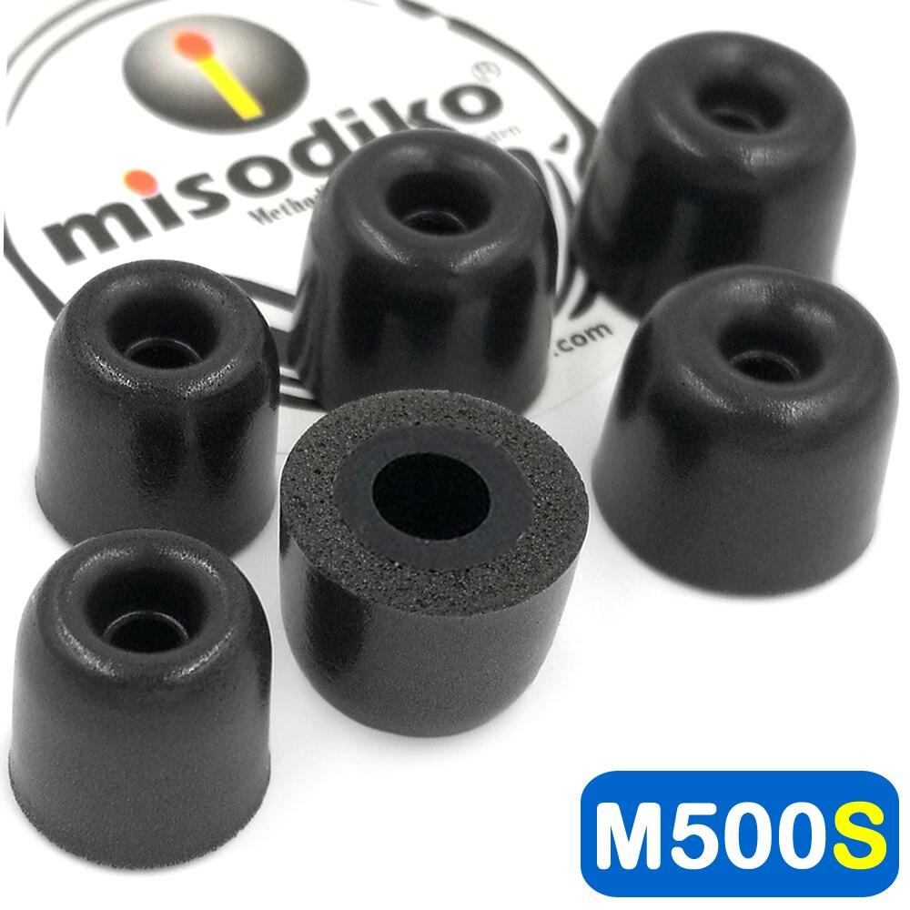 Misodiko M500S almohadillas de espuma de memoria para auriculares para Jaybird X4 X3 X2, Freedom 2 F5, blueBuds X/Skullcandy/Beats auriculares Powerbeats