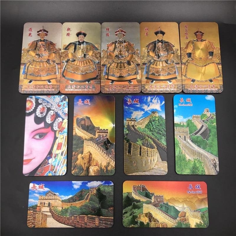 Kreative Chinesischen Dynastie Kaiser Kühlschrank Magneten Gold Folie Magnetischen Kühlschrank Paste Peking Great Wall Peking-oper Charakter