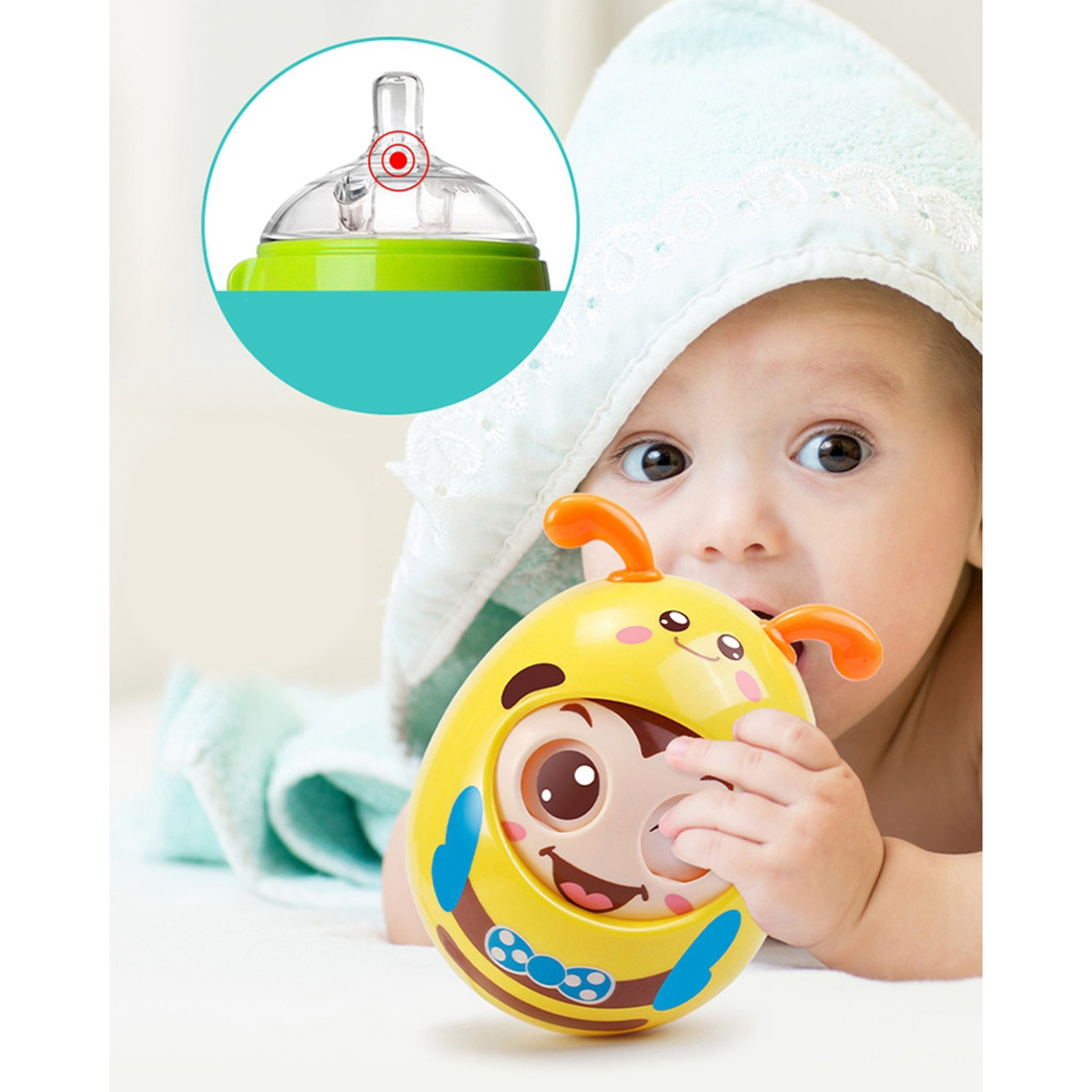 Roly-Poly Tumbler  Infant Baby Toys For 6-12 Months Developmental Toy