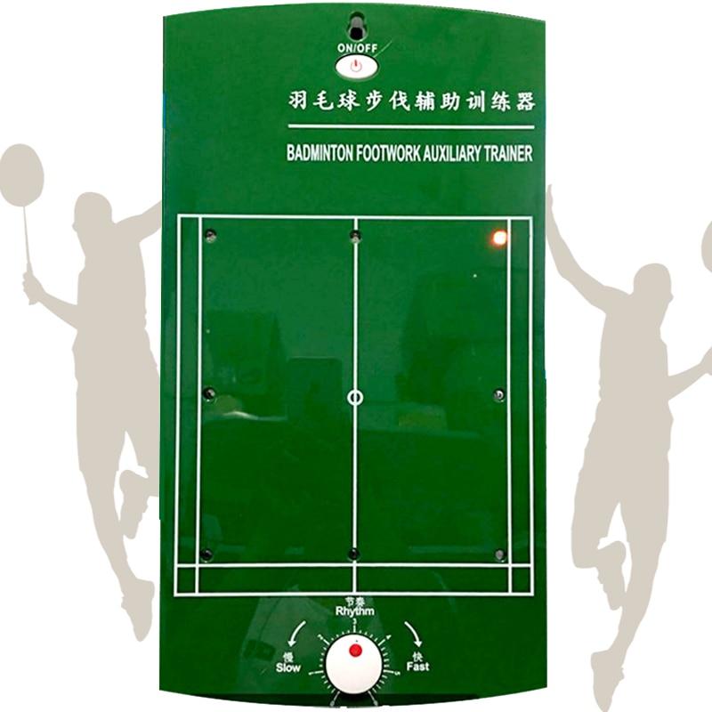 Professionelle Badminton Lauf Schritt Hilfs Ausbildung Maschine Tragbare Led-anzeige Licht Gerät Toolkit Trainer 2 * AAA Butter