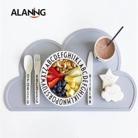 nordic style childrens cloud silicone placemat insulated mobile placemat waterproof environmental protection student desk mat
