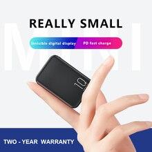 20000mAh Mini batterie externe tpye-c Mirco USB Intput Charge rapide affichage latéral chargeur Portable double USB sortie rapide Powerbank