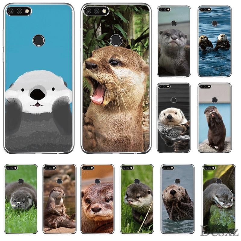 Funda para teléfono móvil para Huawei Y6 Y7 Y9 Mate 10 20 Pro Lite Nova 2i 3i 5i 2 3 4 funda Animal nutria