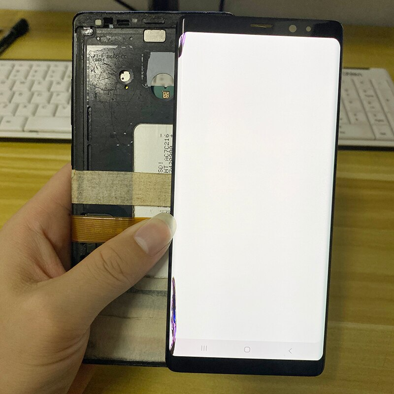 Original AMOLED with frame for Samsung Galaxy NOTE 8 LCD N950U N950F display touch screen assembly with Black dots or with Line enlarge