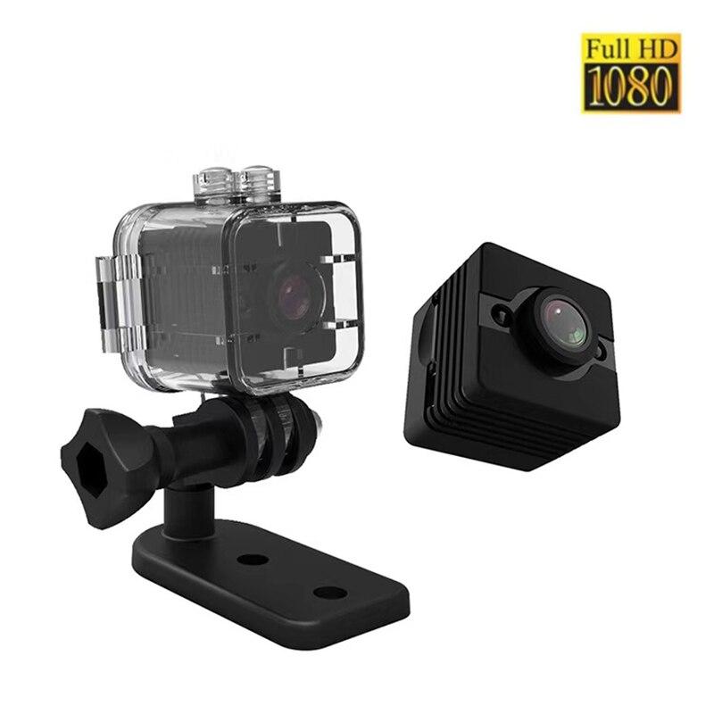 Minicámara SQ12 HD 1080P impermeable, lente gran angular, videocámara deportiva, DVR, visión...