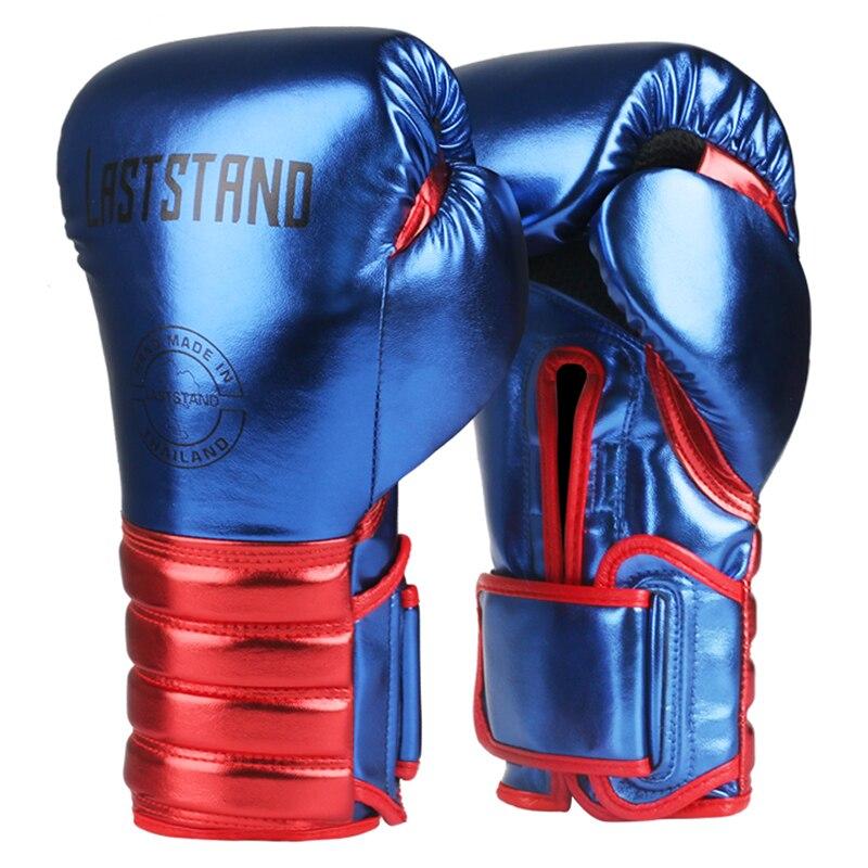 1 par de guantes de boxeo de Metal duraderos para niños/audits para hombres y mujeres para la lucha de Karate Muay Thai guantes DEO 6-12oz