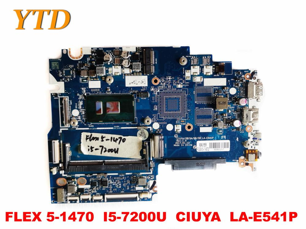 الأصلي لينوفو فليكس 5-1470 اللوحة المحمول فليكس 5-1470 I5-7200U CIUYA LA-E541P اختبار جيد شحن مجاني