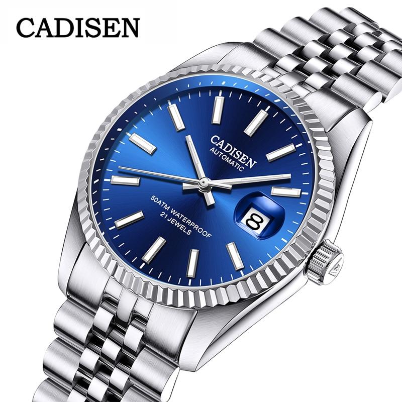 ¡Novedad de 2020! Relojes de marca superior para hombre CADISEN, relojes deportivos de lujo para hombre, relojes de negocios impermeables para hombre, reloj masculino