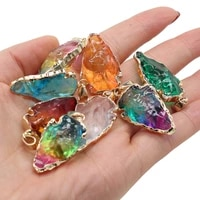 1pcs crystal charm mix color blue pendant diy for necklace earring or jewelry making women girls trendy gift size 20x30mm