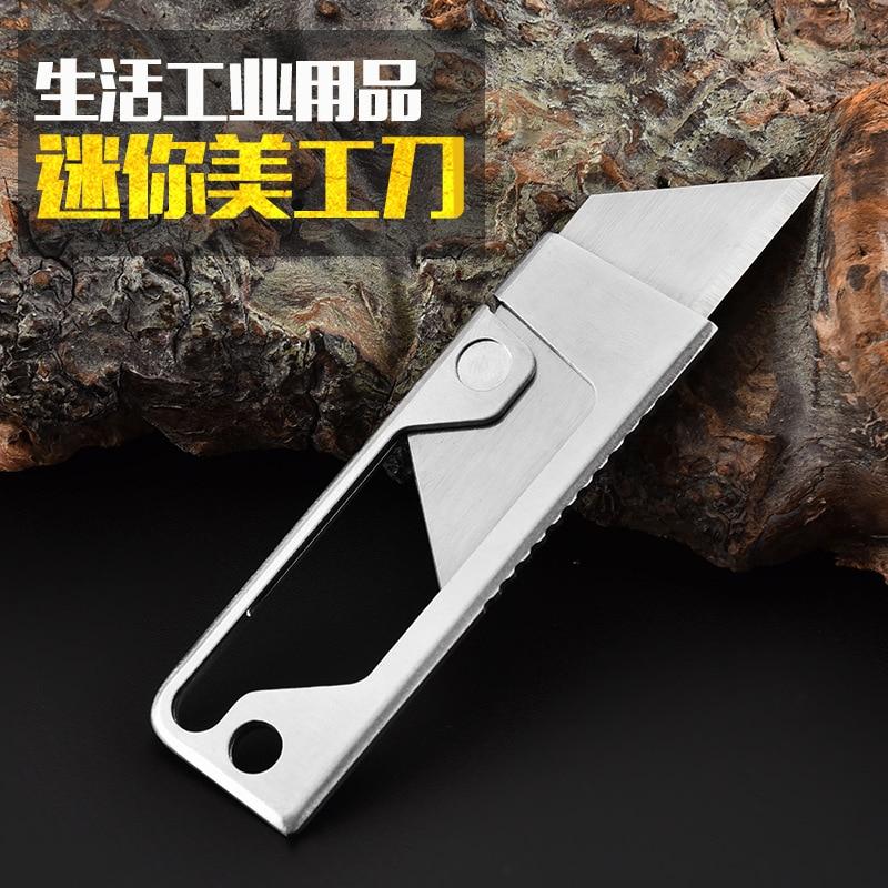 Складной нож из нержавеющей стали, многофункциональный резак для бумаги, резак для бумаги, студенческий ручной нож
