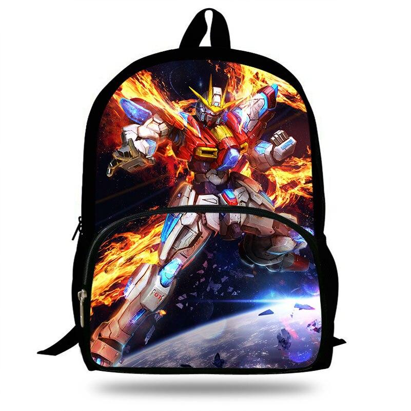 Mochila con estampado de Daban Gundam de 16 pulgadas para niñas adolescentes conjunto de dibujos animados mochila diaria niños mochila escolar niños Mochlia