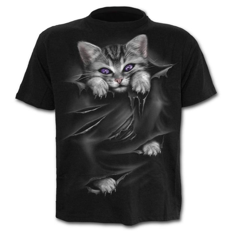 3D printing T-shirt printed t-shirt men's and women's t-shirt men's and women's T-shirt cartoon cat funny cat cute cat женская футболка 2015 cat 3d t 1983