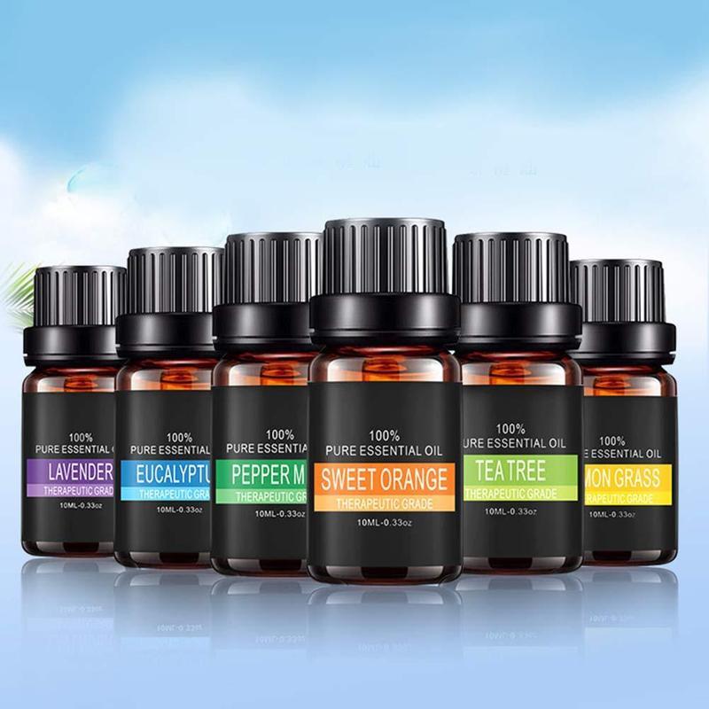 Óleos essenciais da planta pura para a aromaterapia aromática difusores aroma óleo lavanda lemongrass árvore óleo mensagem cuidados com o corpo