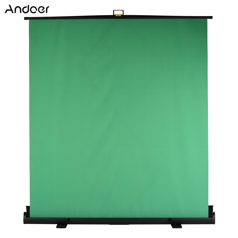 Andoer 200cm de altura plegable Chromakey Fondo Pull-up estilo verde pantalla telón de fondo para foto Video estudio Virtual en vivo