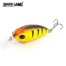 Bassland Neue Crankbait Angeln Locken Schwimmende Tauchtiefe 0-0,5 m Harten Köder 40mm 5,3g Künstliche Wobbler japan Lockt pesca