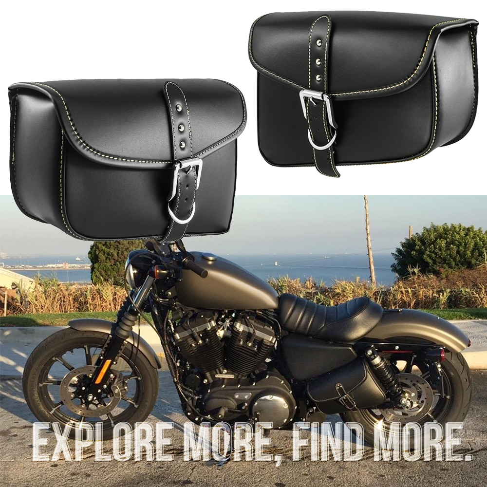 Motorcycle Bag PU Leather Saddlebags For Harley Swingarm Bag Sportster XL883 XL1200 XL 883 1200 Saddle Left Right Side Tool Bags