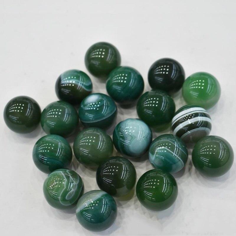 Bola de cristal verde ágata, piedras naturales y minerales de cuarzo, decoración...