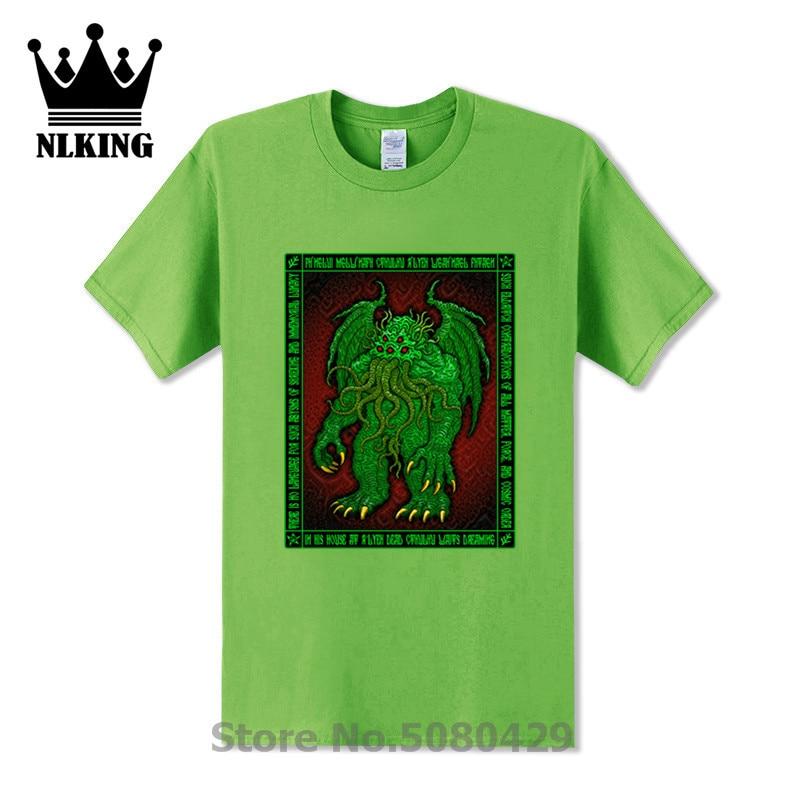 Cthulhu t shirt men Icon 3 Azhmodai Tees hp lovecraft necronomicon call of cthulhu rlyeh miskatonic t-Shirt mythos Sleeve Tops