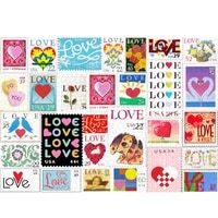1 set love stamps jigsaw puzzle 200 pieces brain exercise puzzle game for couple families