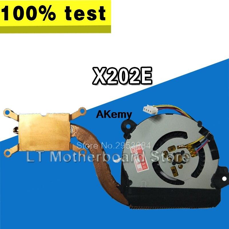 Радиатор для ноутбука ASUS VivoBook X202E S200E X201E Q200E X201EP X201EV, вентилятор охлаждения процессора, протестированный