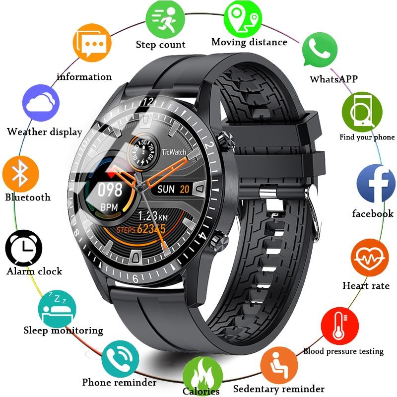 Мужские Смарт часы с сенсорным экраном, водонепроницаемые|Смарт-браслеты| | АлиЭкспресс