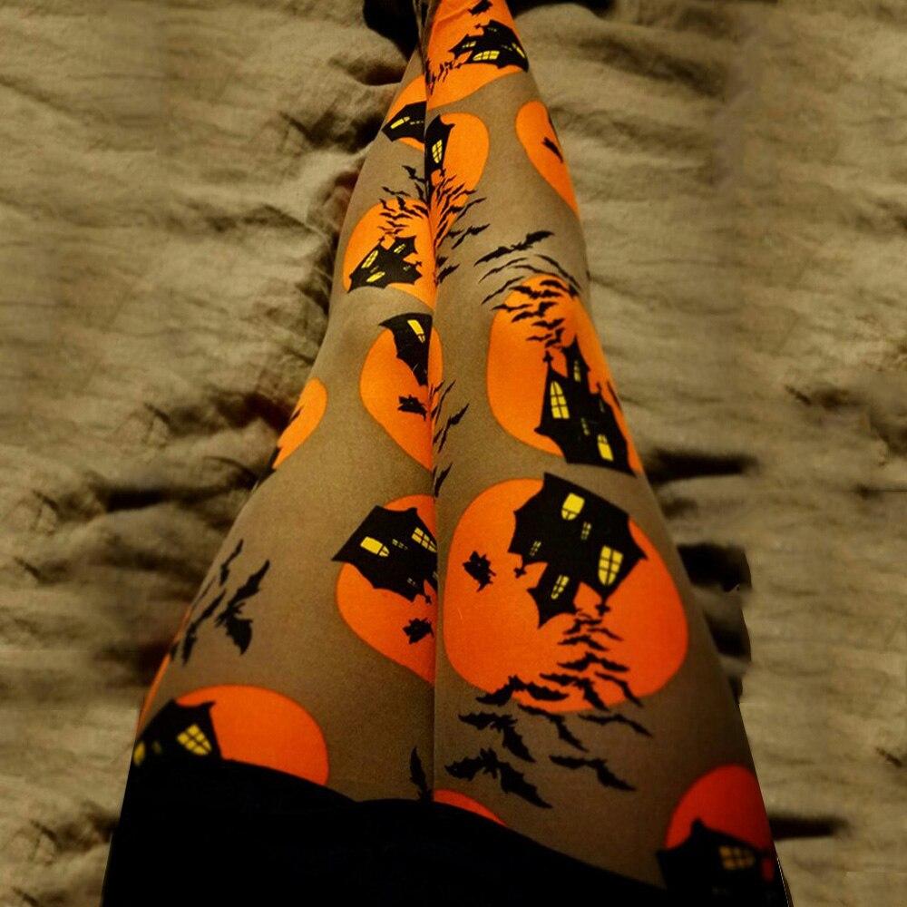 Calabaza fantasma para Halloween imprimir Mujer Pantalones Leggings Mujer Casual ajustado pantalones Otoño Invierno ropa amarillo negro Pantalones