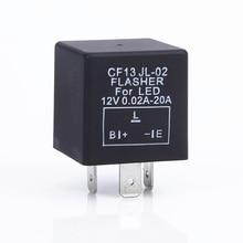 CF13 JL-02 3-Pin Car Flasher Relay Fix LED Light Turn Signal Hyper Flash