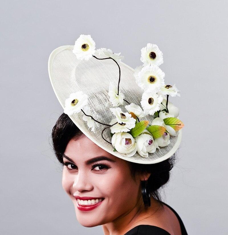 Mingli Tengda-تاج الزفاف من القنب ، إكسسوارات الشعر ، قبعات أنيقة للنساء ، قبعة قفص العصافير ، عقال الزفاف