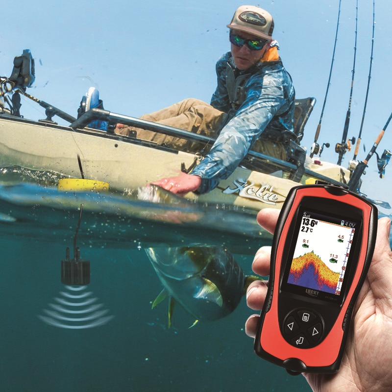 FF1108-1CT High definition color fish finder depth echo sounder fishing tackle enlarge