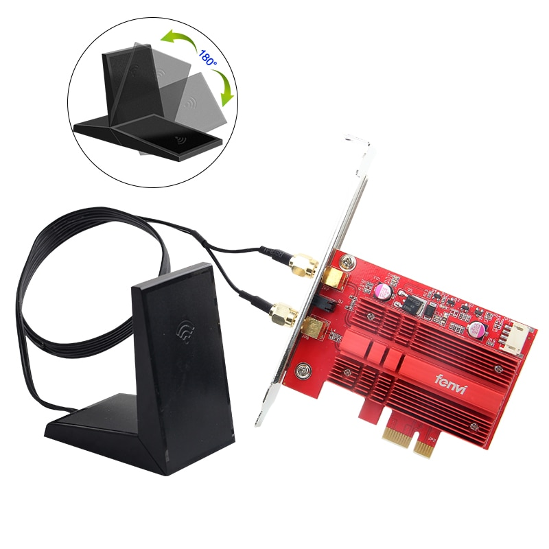 Fenvi WiFi Card Dual Band Wireless-AC 9260 PC PCIE 2030Mbps BT5.0 802.11ac 2.4Ghz 5Ghz MU-MIMO Desktop WLAN PC BT 5.0 Network