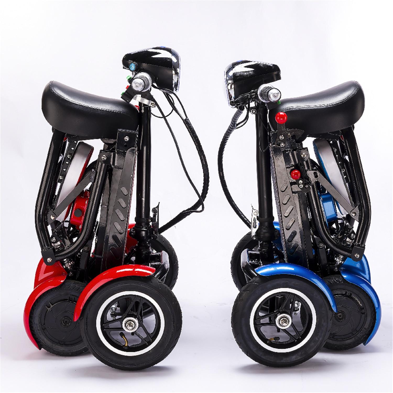 سكوتر متحرك كهربائي للكبار من كبار السن قابل للطي للكبار والمعوقين سكوتر متحرك رباعي متنقل