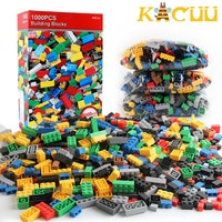 500-1000pcs DIY Assembly Building Blocks Bulk Sets City Creative Classic Kids Bricks Creator Assembly Toys for Children