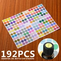 192pcs 13mm waterproof round essential oil bottle cap stickers labels self adhesive round blank labels for essential oil bottle