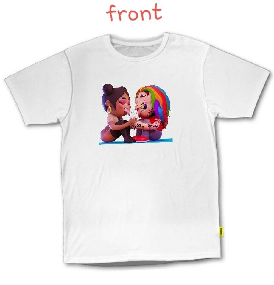 TEKASHI 69 6IX9INE Nicki Minaj FeFe T-SHIRT HIPHOP RAP TEE BROOKLYN NYC Summer T Shirt Brand Fitness Body Building