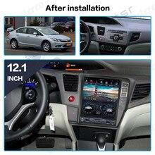 Tesla écran android 9. 0 px6 pour Honda Civic 2012-2016 voiture   Lecteur stéréo multimédia, Radio Carplay GPS Navigation, unité de tête DSP