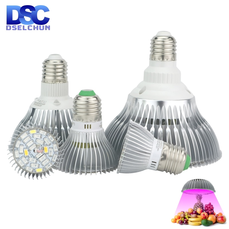 new 2 heads led grow light dual head 18w plant grow lamp led fitolampy with double on off switch for hydroponics grow system LED Grow Light E27 Full Spectrum 18W 28W 30W 50W 80W for Hydroponics Plant Light AC85-265V 110V 220V Led Grow Lamp