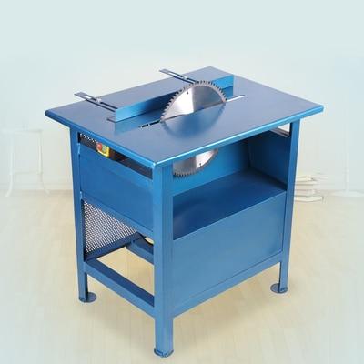 Sierra de mesa eléctrica para carpintería de alta potencia pequeña sierra de mesa de empuje máquina de corte simple