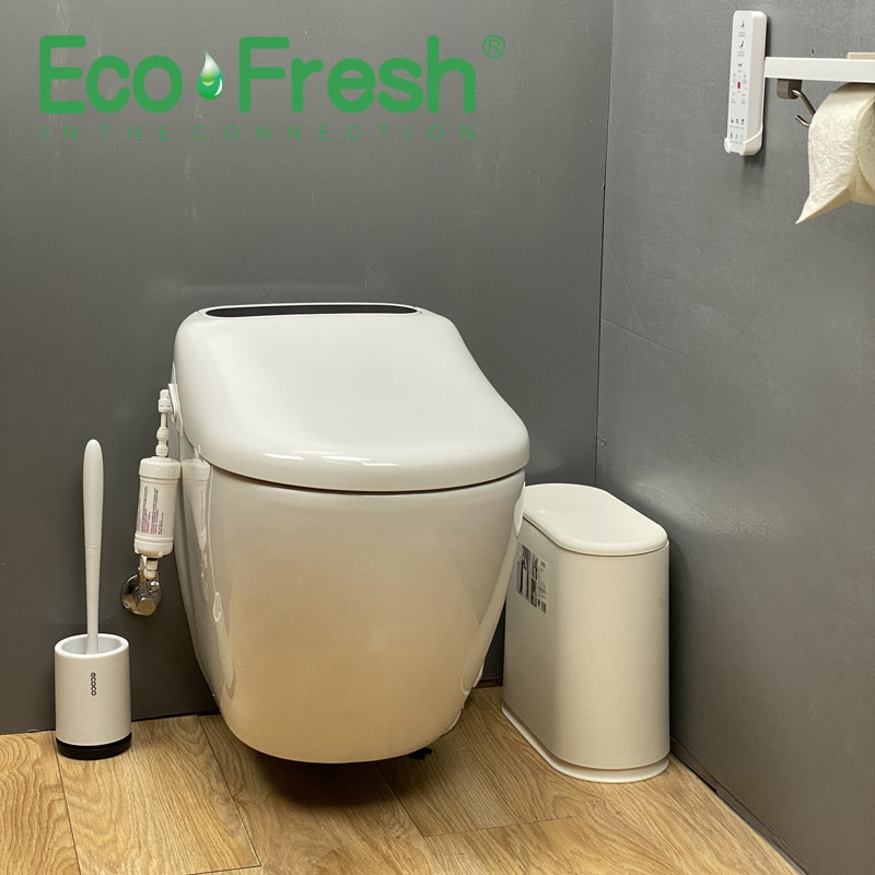 Ecofresh-مقعد مرحاض ذكي ، غطاء بيديت كهربائي ، مع ضوء led ، غطاء مرحاض تلقائي