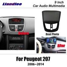 Liandlee-Android 207 9 pouces pour Peugeot   2006 ~ 2014 stéréo Radio vidéo, Wifi, Carplay, carte GPS, Nav, Navi Navigation multimédia